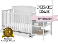 Best baby crib brands - Storkcraft Stevenson 4-in-1 convertible crib with changer