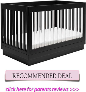 Best acrylic crib for short moms: Babyletto Harlow