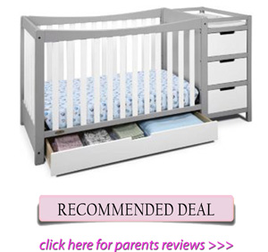 Best combo crib for short moms: Graco Remi