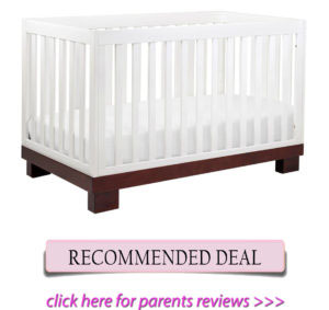 Best cribs for short moms: Babyletto Modo 3-in-1 convertible crib