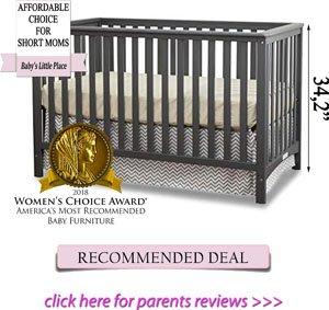 Best cribs for short moms: Stork Craft Hilcrest