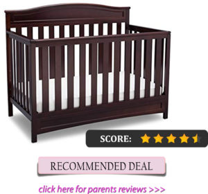 Best arched crib for short parents: Delta Children Emery 4-in-1 convertible crib