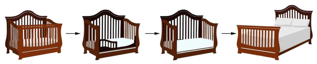 Standard size baby cribs: convertible crib