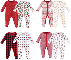 Best Baby First Christmas Pajamas: Hudson Baby Cotton Sleep and Play Christmas Pajama
