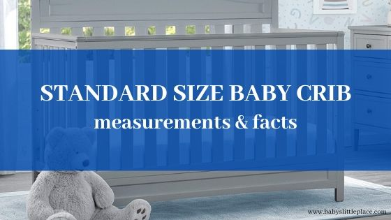 Standard size baby crib measurements