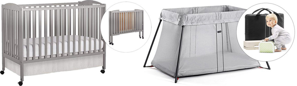 Measuremets of standard size crib vs. Pack' N Play