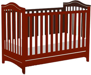 Standard size baby cribs: traditional non-convertible crib