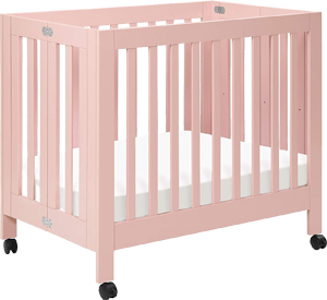Babyletto origami, a safe mini foldable crib on wheels