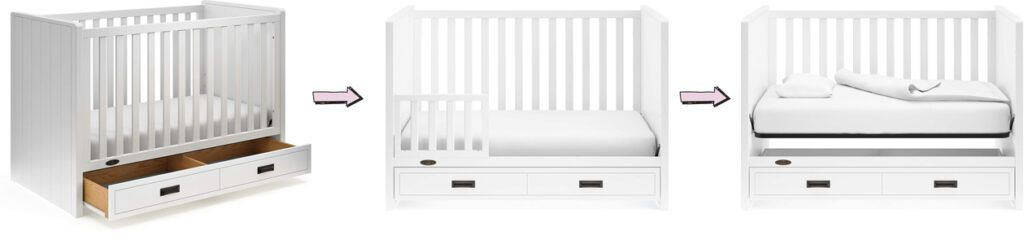 Graco Cottage 3-in-1 convertible crib with under crib drawer
