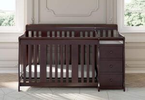 Storkcraft Portofino 4-in-1 Fixed Side Convertible Crib and Changer, Espresso