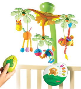 Tiny Love Sweet Island Dreams baby Crib Mobile with remote control