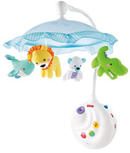 Best baby crib mobiles with night light projector: Fisher-Price Precious Planet 2-in-1 Projection Mobile