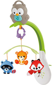 Best baby crib mobiles: best grow with me musical mobile_Fisher Price Woodland Friends 3-in-1 Musical Mobile