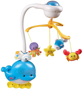 Best baby crib mobiles: best responsive mobile_Vtech baby soothing ocean slumbers mobile