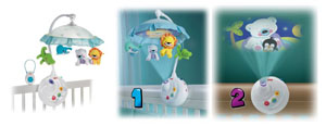 Fisher-Price Precious Planet projection mobile review - conversions
