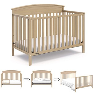 Different Types of Baby Cribs: 4-in-1 convertible crib