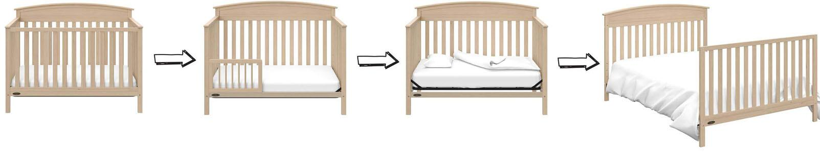 Different types of baby cribs: Convertible Crib