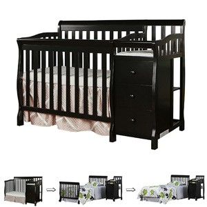 Different Types of Baby Cribs: Mini crib with changer