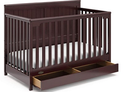 Different types of baby cribs: Crib with Drawer