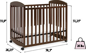 DaVinci Alpha mini rocking crib Review - specifications