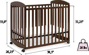 DaVinci Alpha mini rocking crib Review - specifications