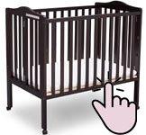 The best mini portable cribs - Delta Children mini folding crib