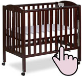 The best mini portable cribs - Dream On Me 3-in-1 folding crib
