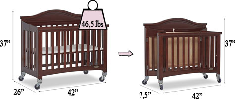 Dream On Me Venice Folding Portable Crib Review - Specifications