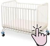 The best mini portable cribs - L.A. Baby Deluxe Holiday mini metal crib