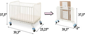 L.A. Baby Deluxe Holiday Mini/Portable Folding Metal Crib Review