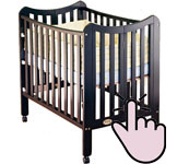 The best mini portable cribs - Orbelle-Tian-three-level-crib