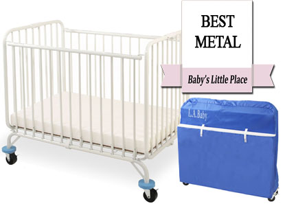 Best metal portable mini crib: L.A. Baby Deluxe Holiday mini crib