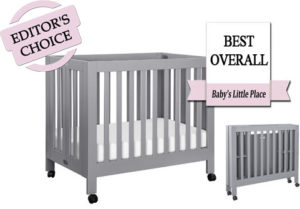 The best mini portable cribs - Babyletto Origami folding crib on wheels