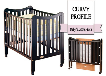 Best curvy profiled mini portable crib; Orbelle Tian three-level portable crib
