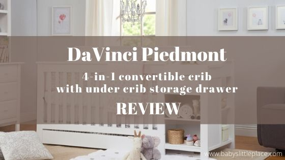 DaVinci Piedmont 4-in-1 Convertible Crib with under crib storage drawer Review