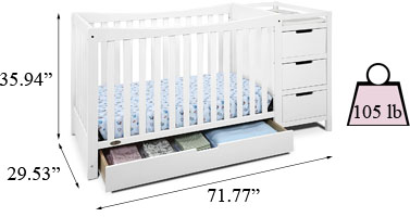 Graco Remi 4-in-1 convertible crib and changer Specifications