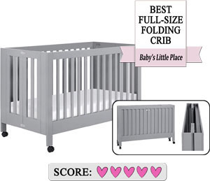 Best Full Size Folding Cribs On Wheels - Babyletto Maki