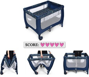 Best cheap Pack 'N Play: BABY JOY Portable Baby Playard
