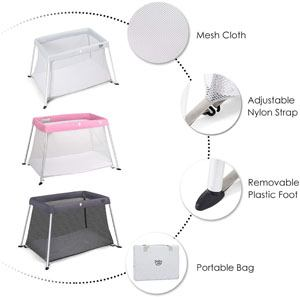 The Best Cheap Travel Cribs: BABY JOY Baby Portable crib Review