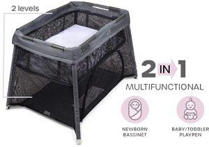 The Best Cheap Travel Cribs - Flisko's Lightweight portable crib