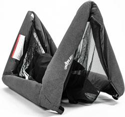 UNiPlay travel crib folding system