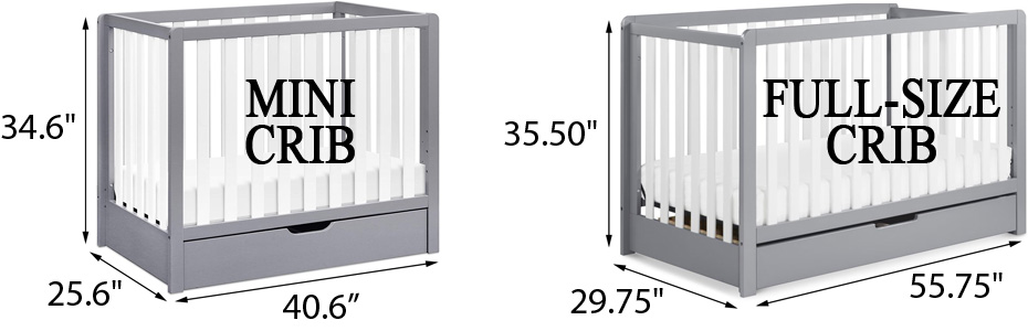 Carter's by DaVinci Colby 4-in-1 Convertible Mini vs. Full-Size Crib Review