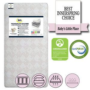 The best innerspring crib mattress - Serta Tranquility Eco Firm Innerspring Crib and Toddler Mattress