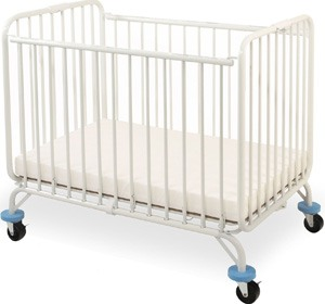 L.A. Baby Deluxe Holiday Mini/Portable Folding Metal Crib