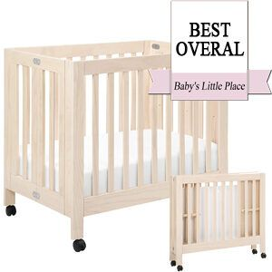 Best Mini Cribs - Babyletto Origami Portable Folding Crib on Wheels