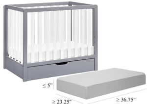 What size mattress fits a DaVinci Colby mini convertible crib?