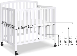 DaVinci Dylan Folding Portable 3-in-1 Mini Crib Mattress Information