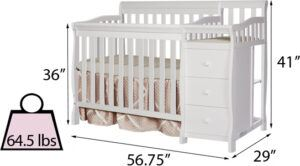 Dream On Me Jayden 4-in-1 mini convertible crib and changer's Space Efficiency Review