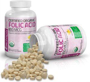 Bronson Organic Folic Acid (Vitamin B9 Folate)