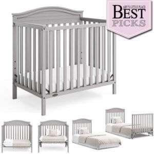 Best Convertible Mini Cribs: Favorite Bell-Shaped Headboard